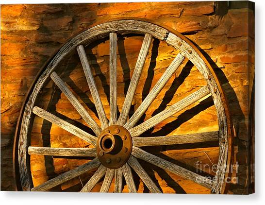 Sunset Wagon Wheel Canvas Print