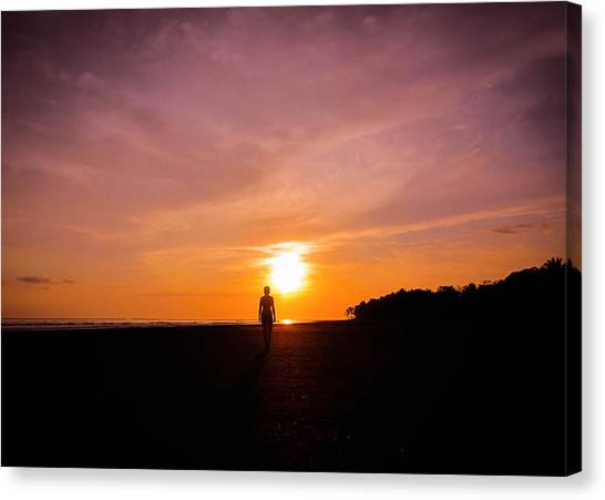 Costa Rican Canvas Print - Sunset Walk by Nicklas Gustafsson
