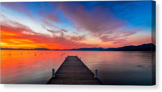 Sunset Walkway Canvas Print