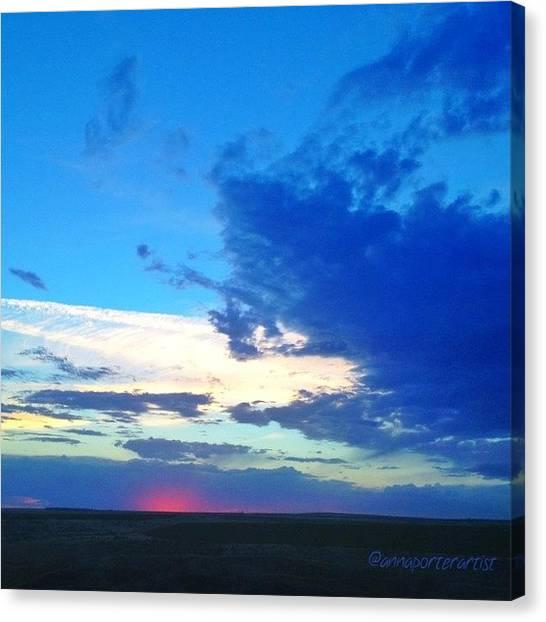Washington Canvas Print - Sunset Washington Style  by Anna Porter