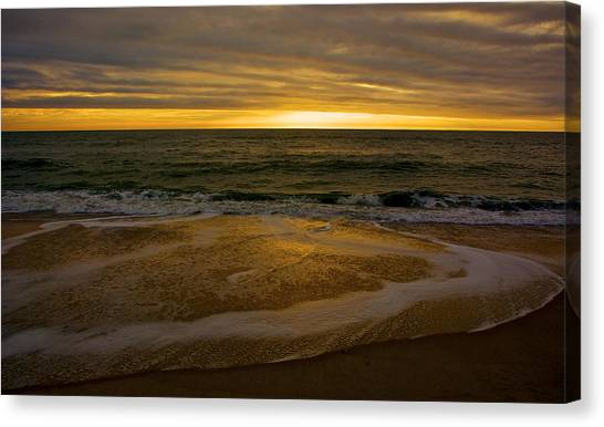 Sunset Waves Canvas Print by Kathi Isserman