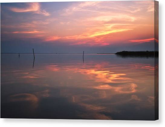 Sunset Whalehead Club Canvas Print