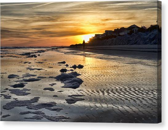 Sunset Wild Dunes Beach South Carolina Canvas Print