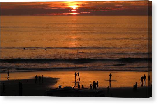 Sunset Worship Canvas Print