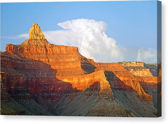 Sunset Zoroaster Temple Grand Canyon Canvas Print