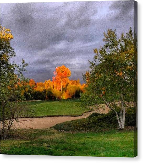 Golf Canvas Print - Sunsets At Oak Creek Golf Club #sunset by Wyan Vong