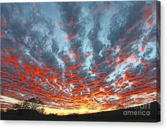 Sunset Colorado Country Style Canvas Print