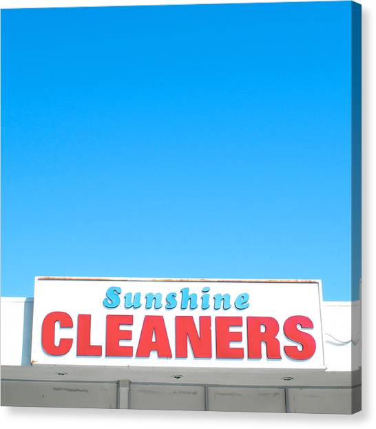 Sunshine Cleaners Canvas Print