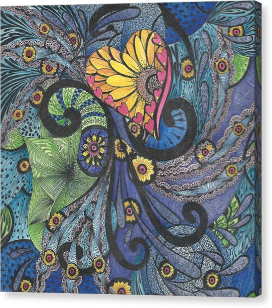 Sunshine In My Heart Tangle Canvas Print