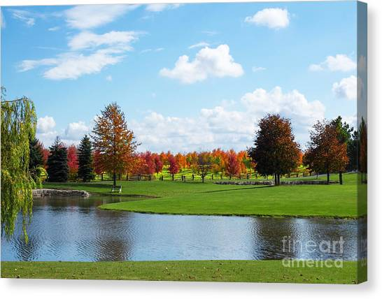 Sunshine On A Country Estate Canvas Print