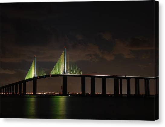 Sunshine Skyway Bridge Canvas Print