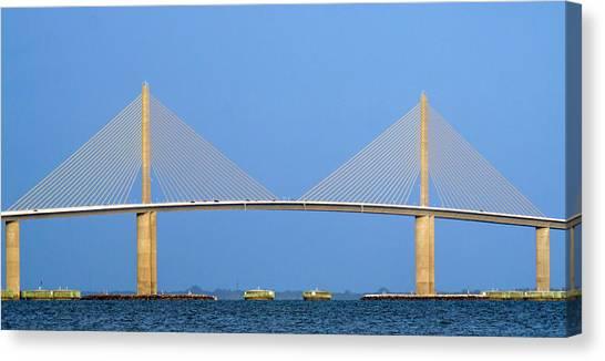 Sunshine Skyway Panorama Canvas Print
