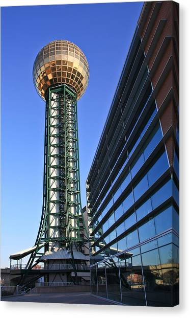 Sunsphere And Conference Center Canvas Print