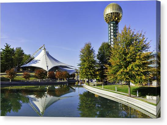 Sunsphere In The Fall Canvas Print