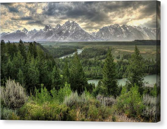 Ansel Adams Canvas Print - Sunstorm  by Ryan Smith