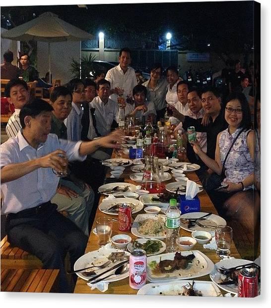 Oysters Canvas Print - #sunwayhotel Management Team Gethering by Heng Siek