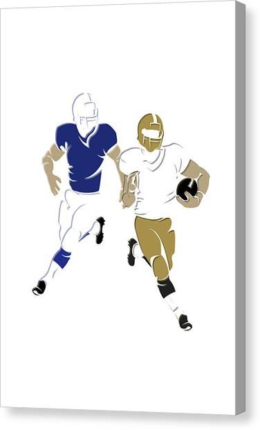 Indianapolis Colts Canvas Print - Super 44 Colts Vs Saints by Joe Hamilton