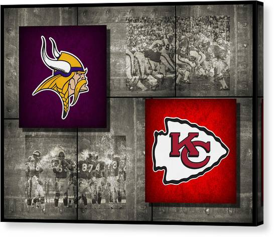 Minnesota Vikings Canvas Print - Super Bowl 4 by Joe Hamilton