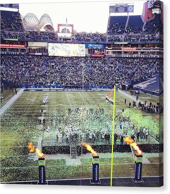 Seattle Seahawks Canvas Print - Super Bowl Celebration #worldchamps by Marqise Allen
