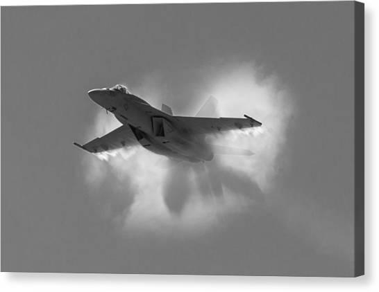 Super Hornet Shockwave Bw Canvas Print