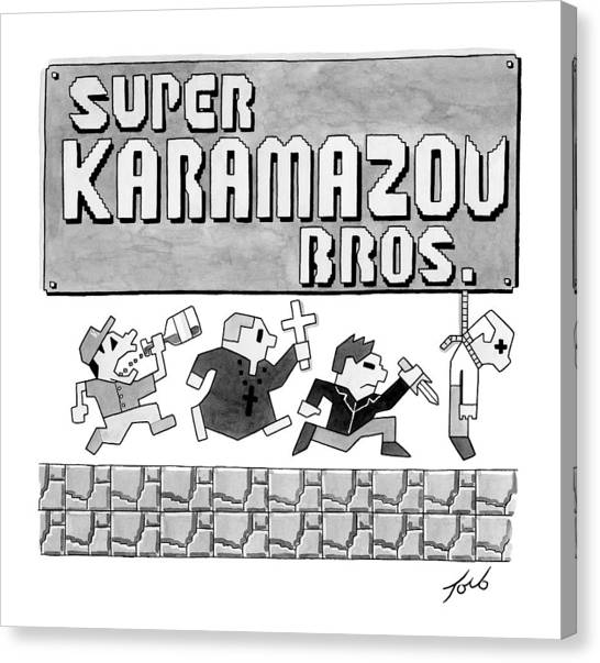 Super Mario Canvas Print - Super Karamazov Bros. -- A Parody Of Mario by Tom Toro