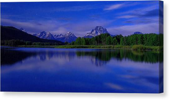 Wyoming Canvas Print - Super Moon by Chad Dutson