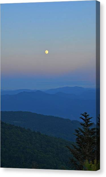 Super Moon Canvas Print by Mary Anne Baker