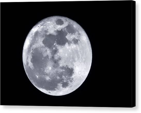 Super Moon Over Arizona  Canvas Print