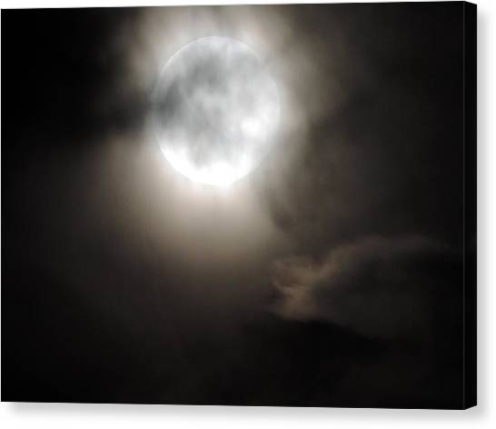 Super Moon Sunday Canvas Print
