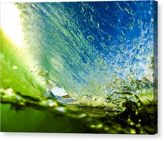 Bodyboard Canvas Print - Super Tube by David Alexander