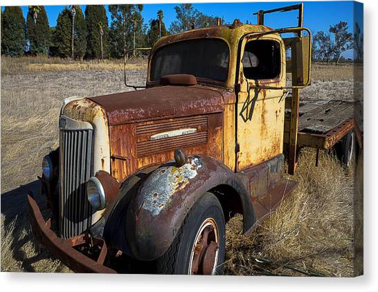 Rusty Truck Canvas Print - Super White Truck by Garry Gay