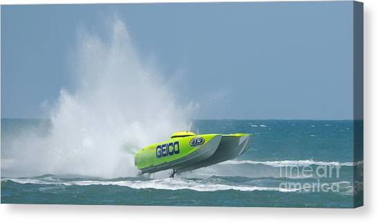 Superboats - Miss Geico Canvas Print