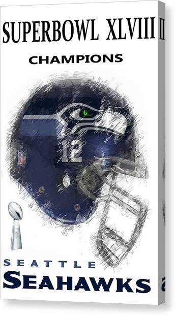 Superbowl Canvas Print - Superbowl 48 Champions by Daniel Hagerman