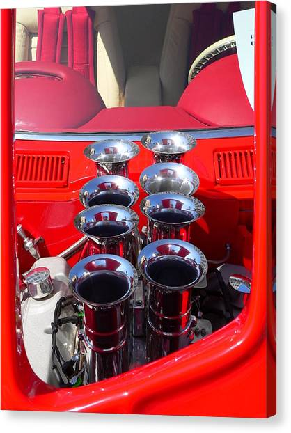 Canvas Print featuring the photograph Supercharged Engine by Jeff Lowe