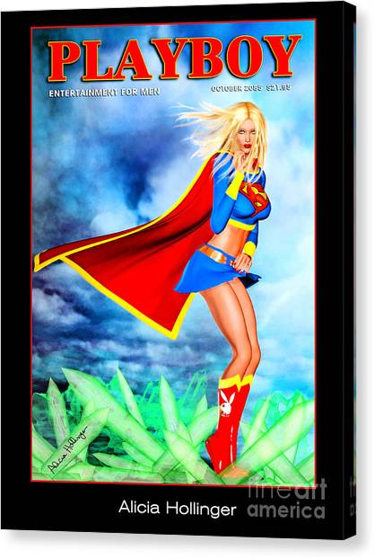 Supergirl 2085 Canvas Print