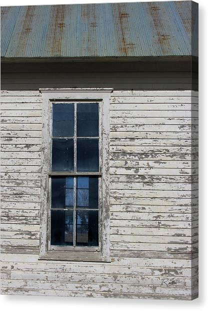 Superior Schoolhouse Window Canvas Print
