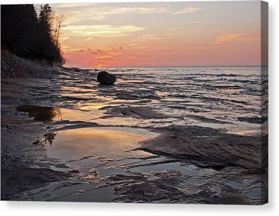 Superior Sunset  Canvas Print