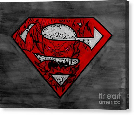 Superman And Doomsday R G Canvas Print