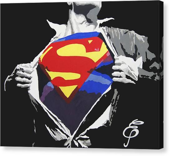 Steeler Canvas Print - Superman by Erik Pinto