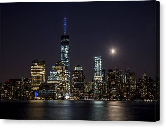 Supermoon Canvas Print by Johnny Lam