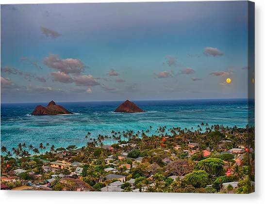 Supermoon Moonrise Canvas Print
