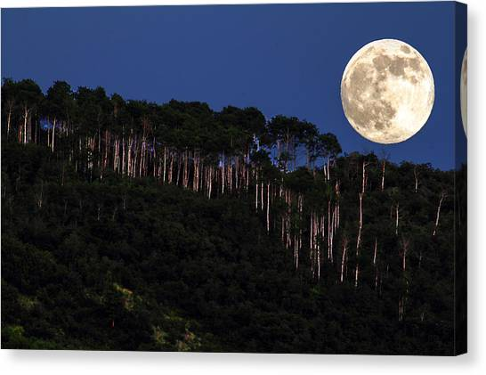 Supermoon Over Moon Hill Canvas Print