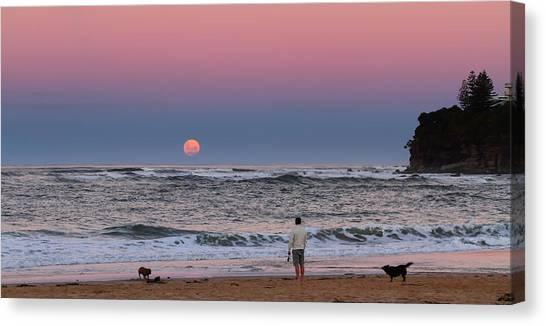 Supermoonrise Canvas Print