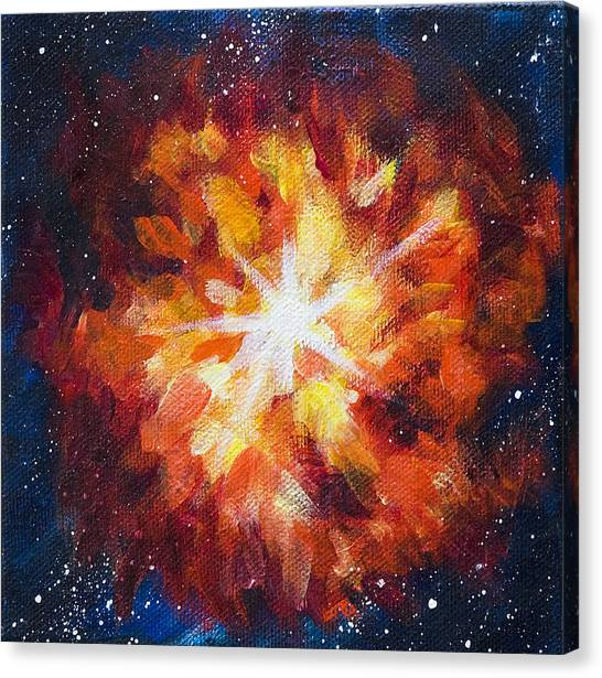 Supernova Explosion Canvas Print