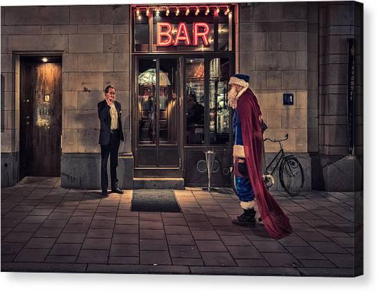 Supersanta Canvas Print by Martin Johansson
