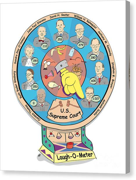 Thomas Connors Canvas Print - Supreme Court Laugh-o-meter by Diane Thornton