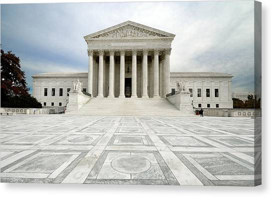 D.c. United Canvas Print - Supreme Court Of The United States - Washington Dc by Brendan Reals