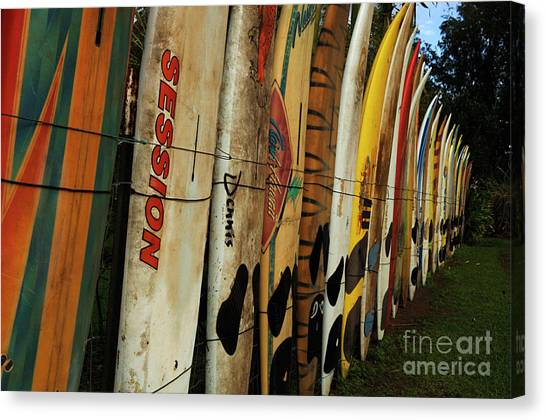Surfboard Fence Canvas Print - Surboard Fence 3 by Bob Christopher