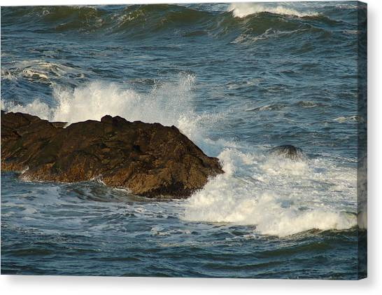 Surf And Rocks Canvas Print