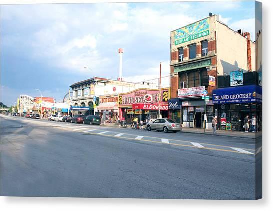 Surf Avenue In Coney Island Canvas Print